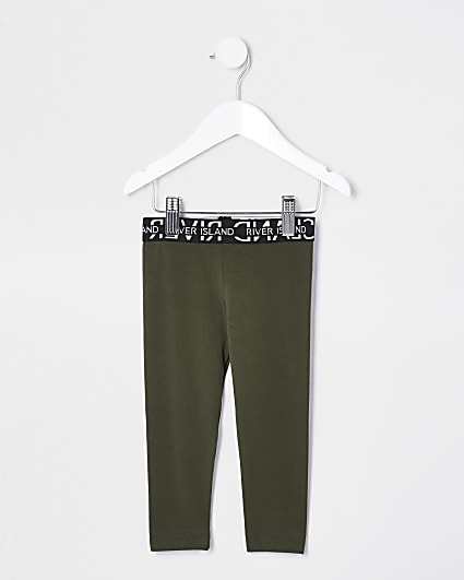 Mini girls khaki leggings