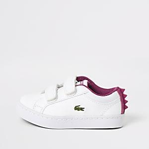Mini - Lacoste - Witte monstersneakers voor meisjes