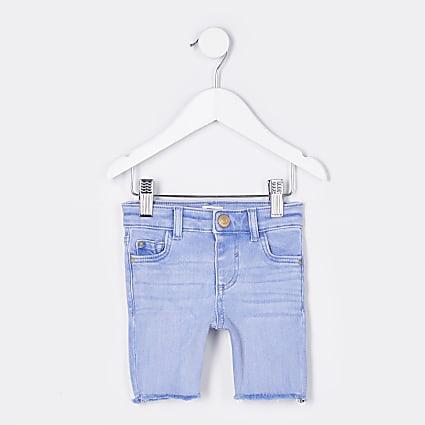 Mini girls light blue cycling shorts