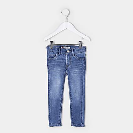 Mini girls light blue Levi's skinny jeans