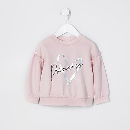 Mini girls lilac 'Princess' sweatshirt