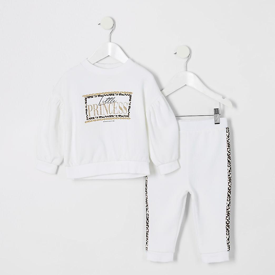 Mini girls little princess sweatshirt outfit