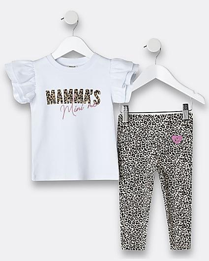 Mini girls 'Mamas Mini Me' t-shirt outfit