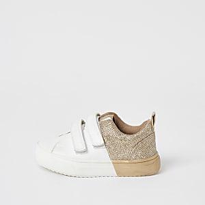 Mini – Sneaker in Gold-Metallic mit Klettverschluss Mädchen