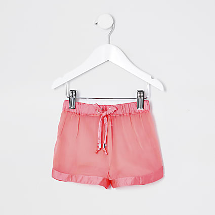 Mini girls neon pink beach short Short