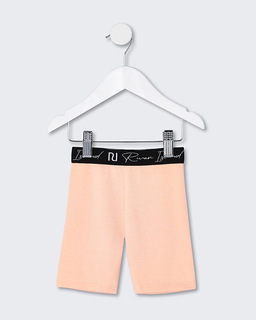 Mini girls orange RI cycling shorts