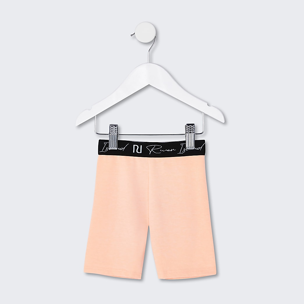 Mini girls orange RI cycling shorts