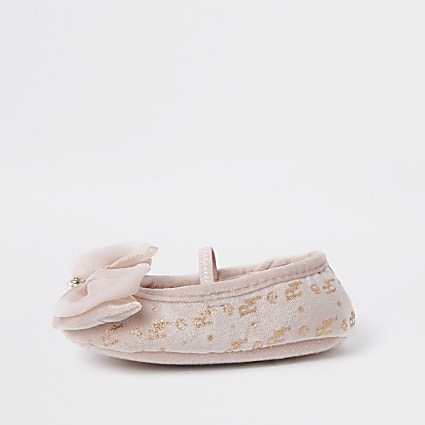 Mini girls pink ballet slipper