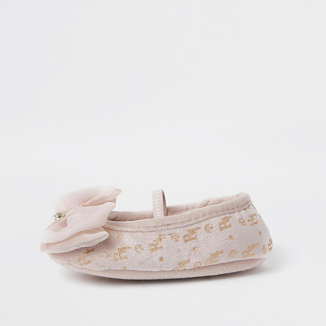 Mini girls pink ballet slipper