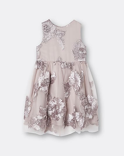 Mini girls pink Chi Chi floral dress