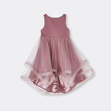 Mini girls pink Chi Chi organza dress