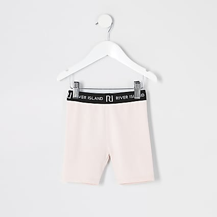 Mini girls pink cycling shorts