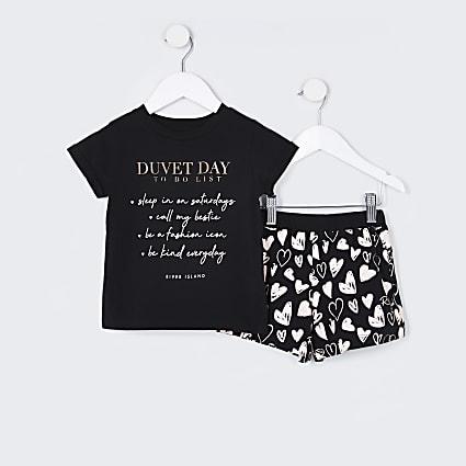 Mini girls pink 'Duvet day to do' pyjamas set