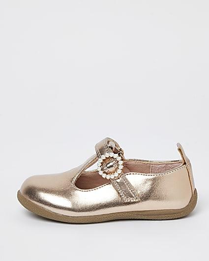 Mini girls pink embellished sandals