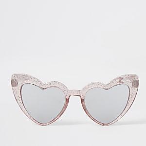 Mini – Herzförmige Sonnenbrillen in Rosa für Mädchen