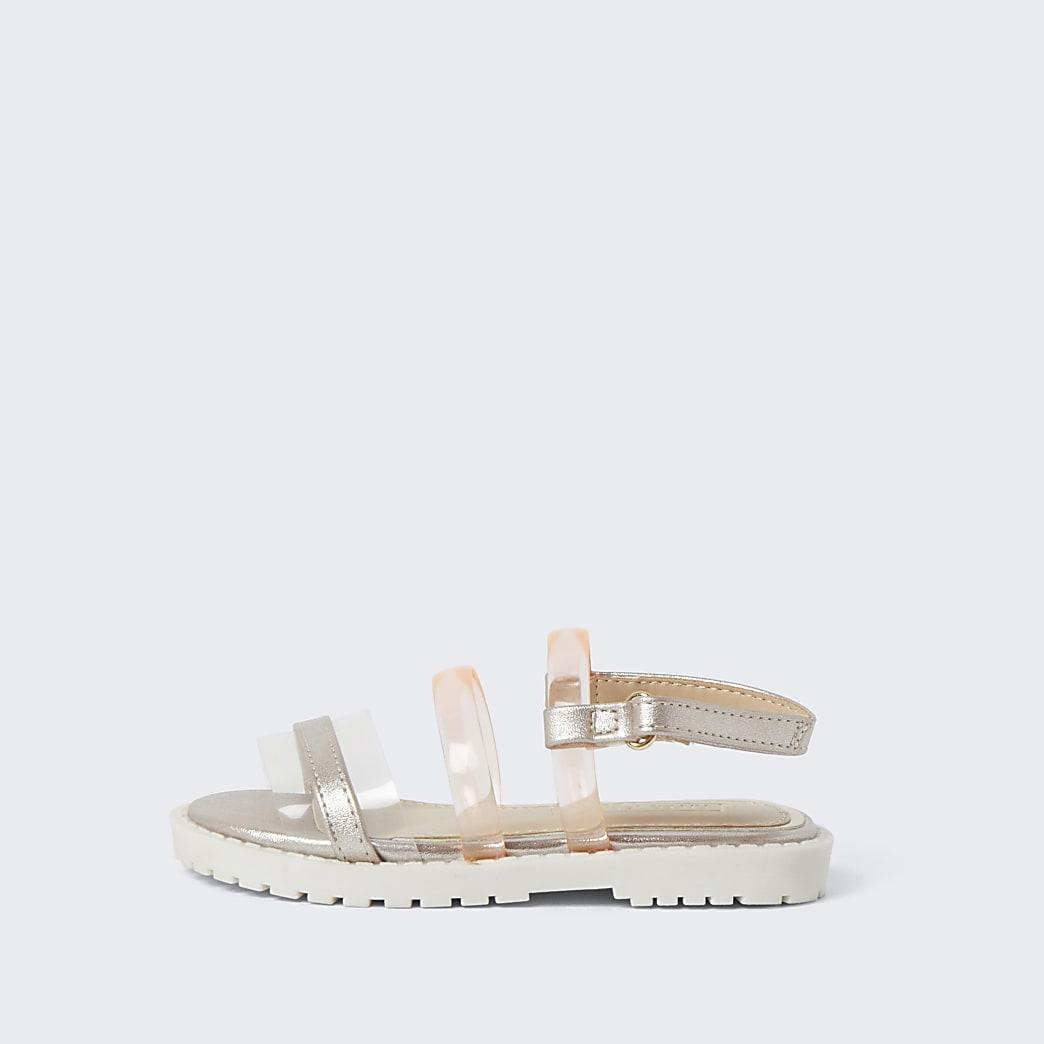 Mini girls pink jelly strap sandal