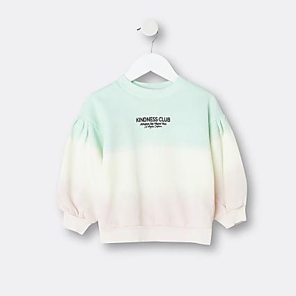 Mini girls pink 'Kindness Club' sweatshirt