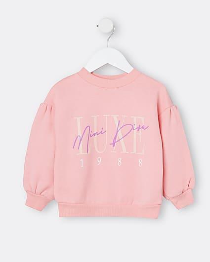 Mini girls pink 'Luxe Mini Diva' sweatshirt