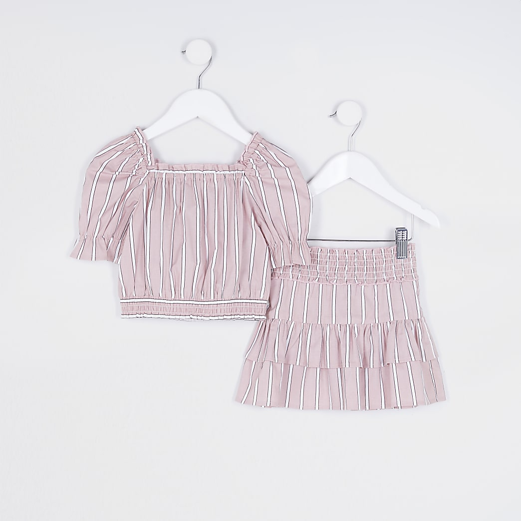 Mini girls pink Milkmaid outfit