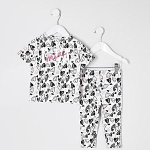 """Mini – Pyjama in Rosa mit """"Mini diva""""-Print"""