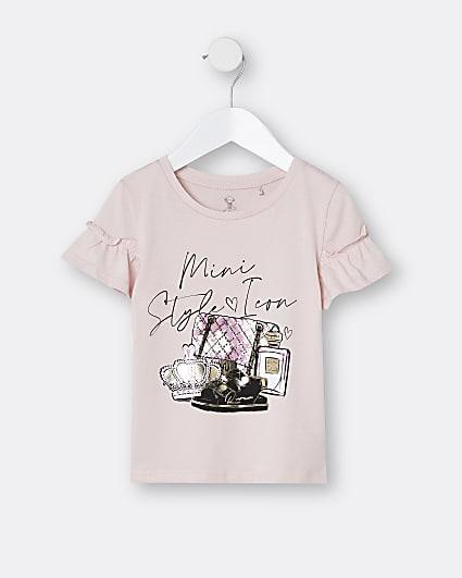 Mini girls pink 'Mini Style Icon' t-shirt