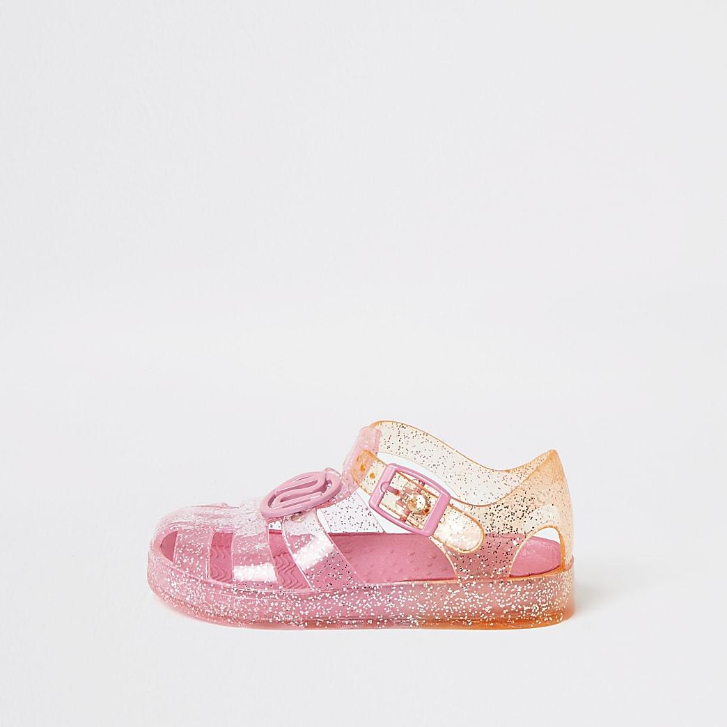 Mini - Roze ombré jelly sandalen voor meisjes