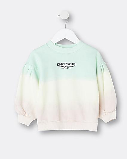 Mini girls pink ombre sweatshirt