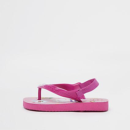 Mini girls pink Peppa Pig Havaianas flip flop