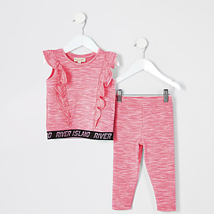 Mini girls pink RI Active outfit