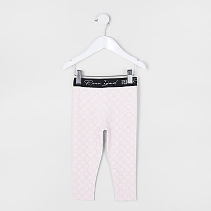 Mini girls pink RI leggings