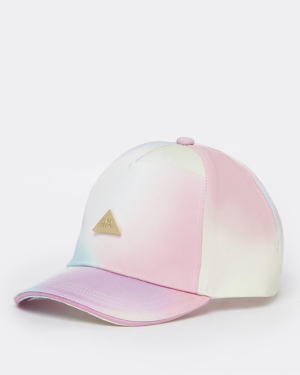 Mini girls pink RI rainbow ombre cap