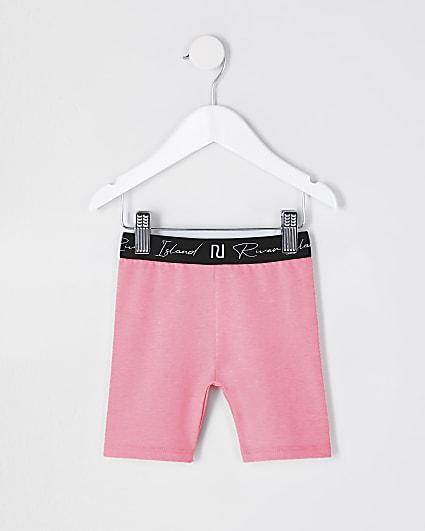 Mini girls pink RI waistband cycling short