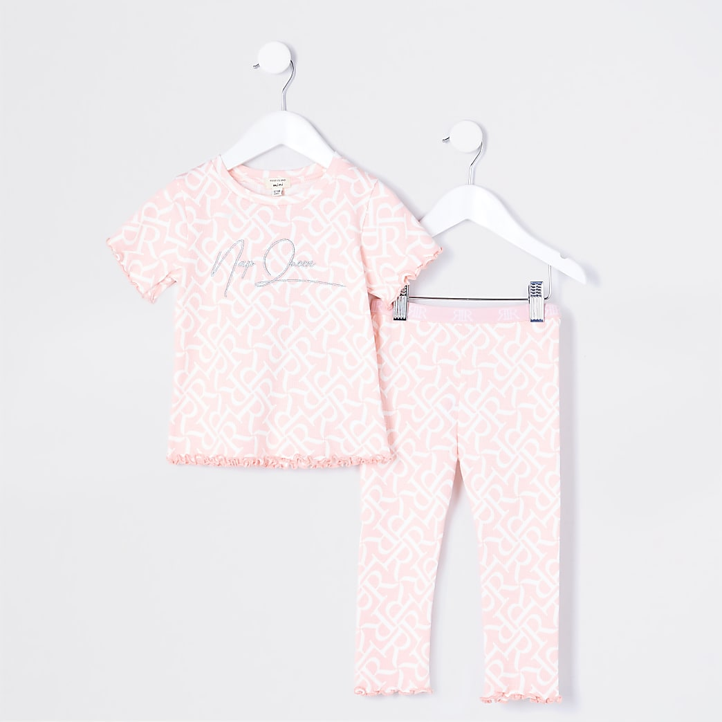 Mini girls pink RR 'Nap Queen' pyjamas
