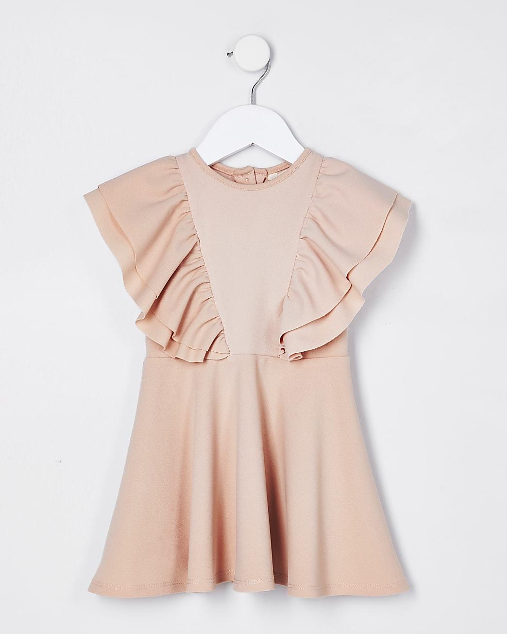 Mini girls pink skater dress
