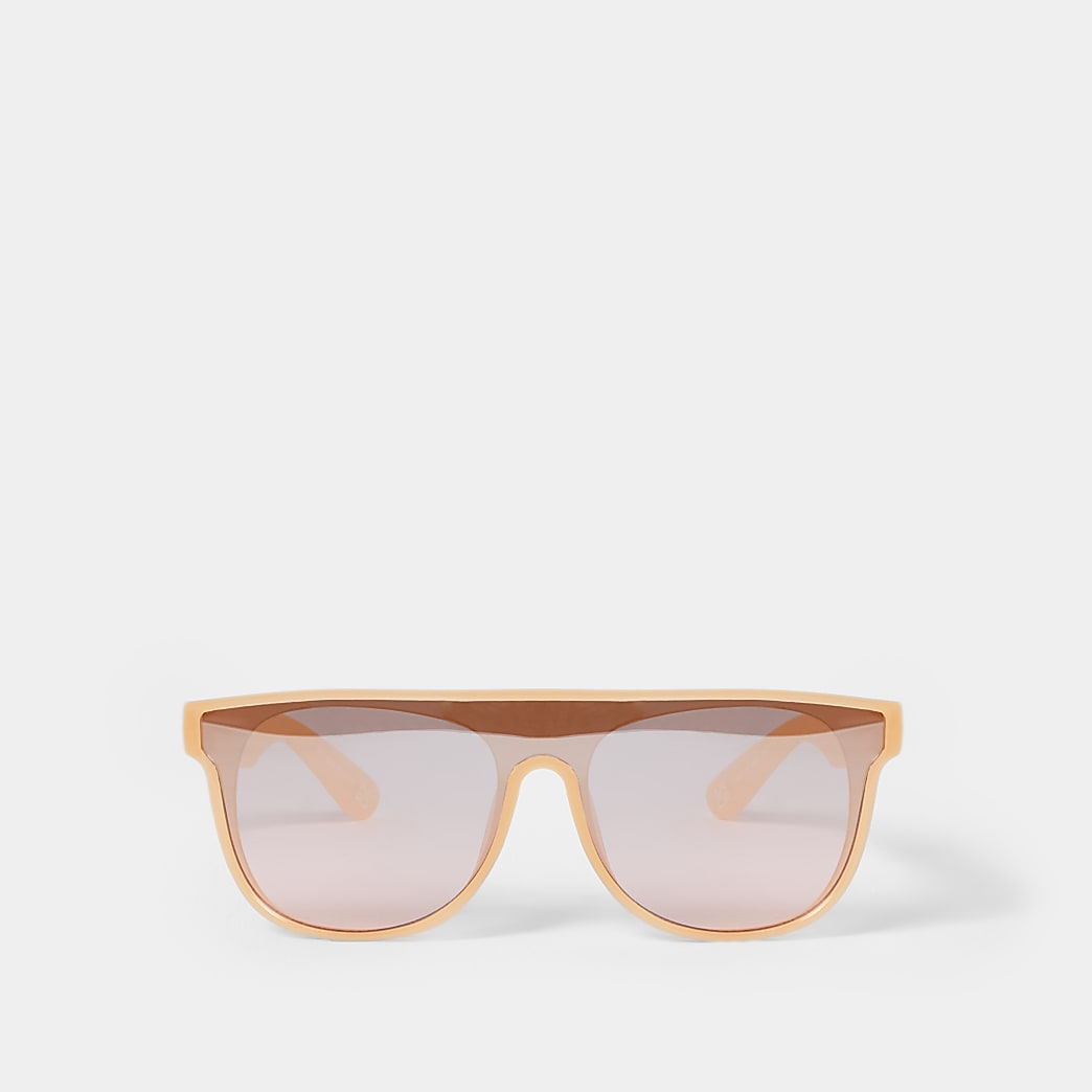 Mini girls pink visor sunglass