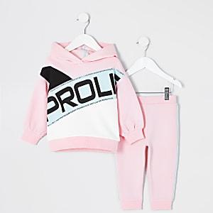 Prolific– Tenue avec sweat à capuche rose Mini fille