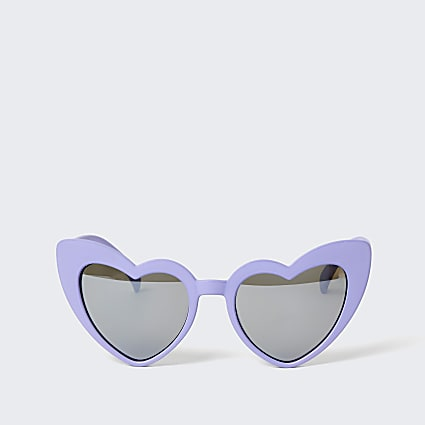 Mini girls purple heart sunglasses