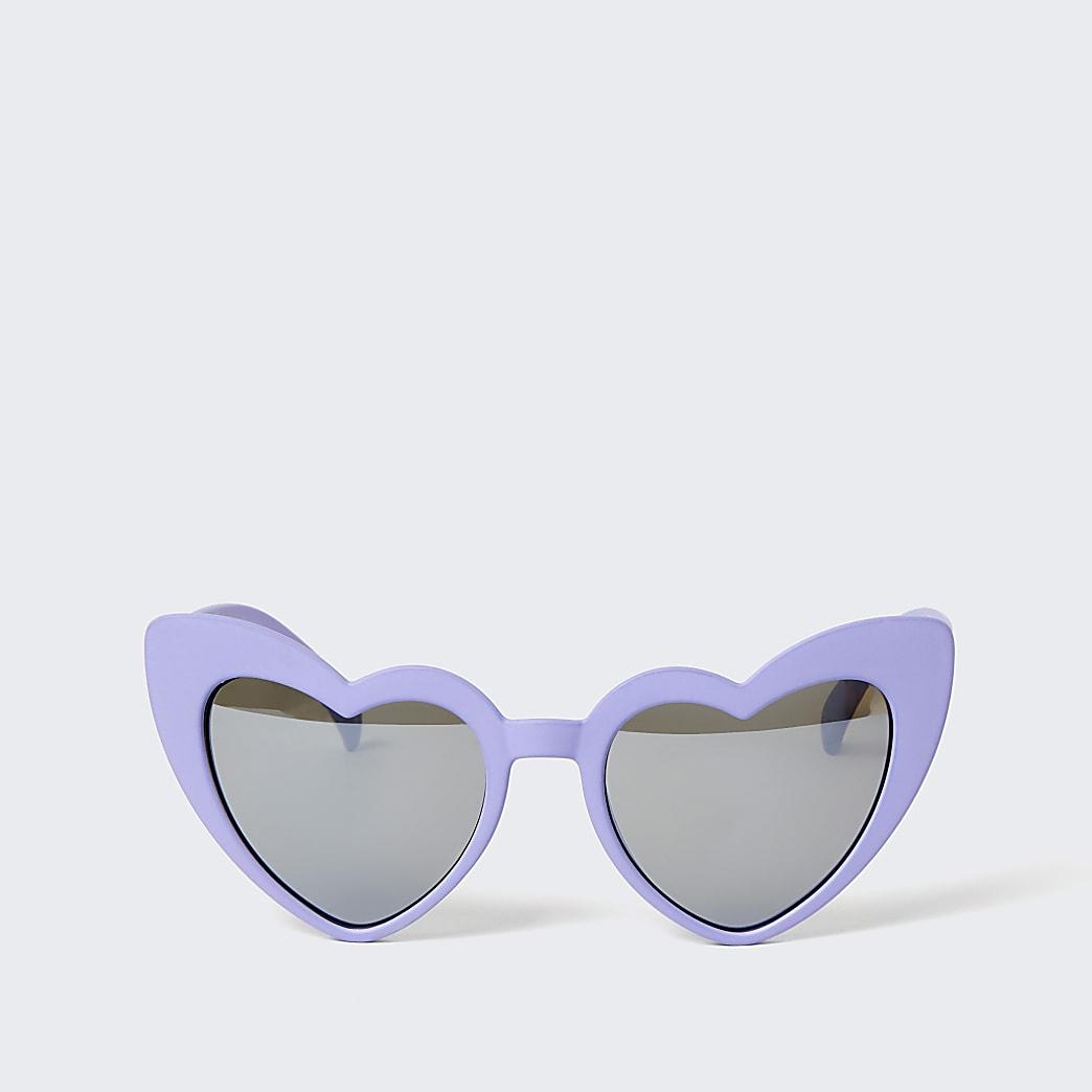 Mini girls purple heart sunglasses
