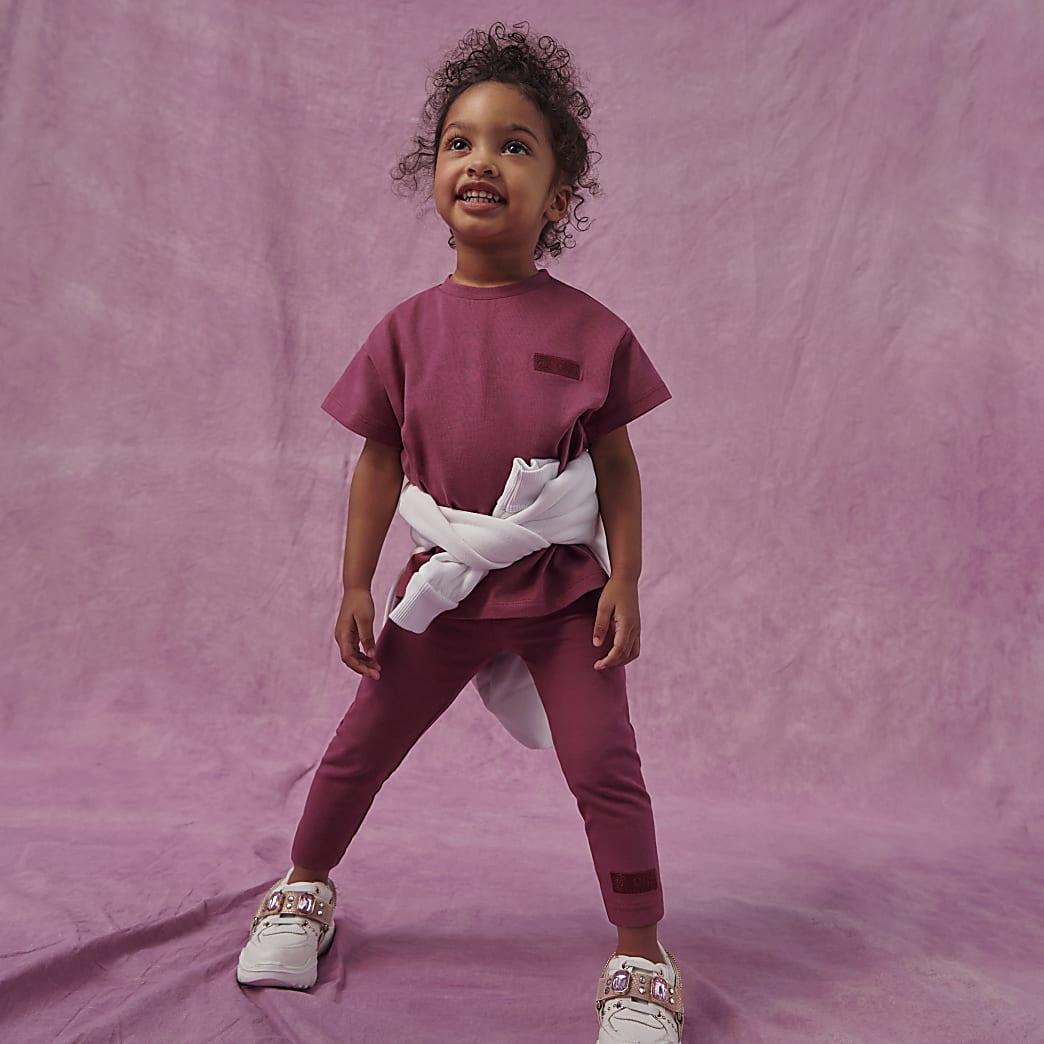 Mini girls purple RI One t-shirt outfit