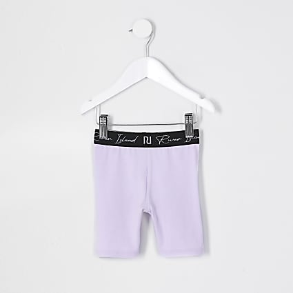 Mini girls purple RI waistband cycling short