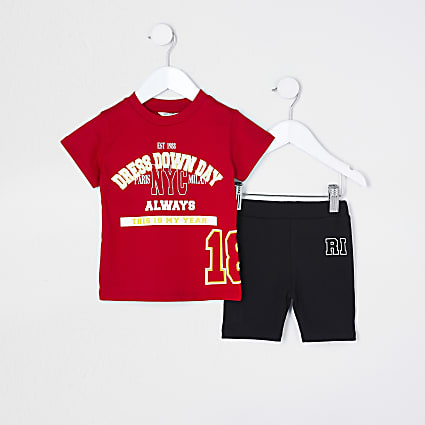 Mini girls red 'Dress Down Day' outfit