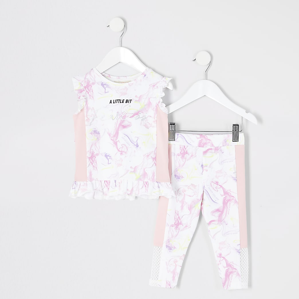 Mini girls RI Active 'fearless' outfit
