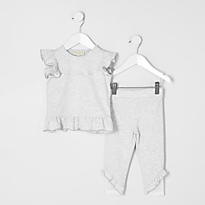Mini - RI Active - Grijs T-shirt outfit voor meisjes