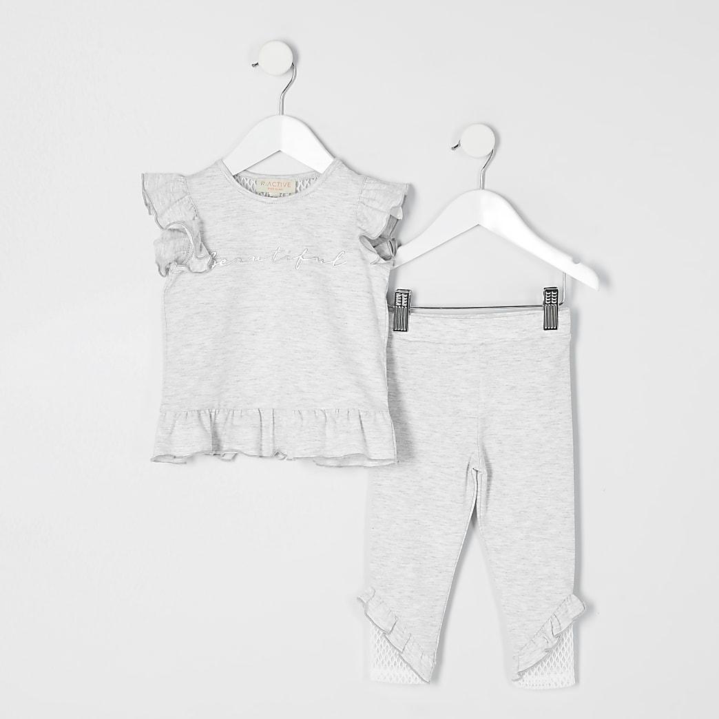 Mini girls RI Active grey T-shirt outfit