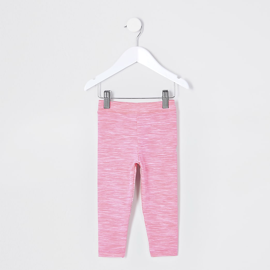 Mini girls RI Active neon pink leggings