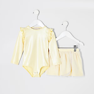 Mini girls RI Active yellow tutu outfit