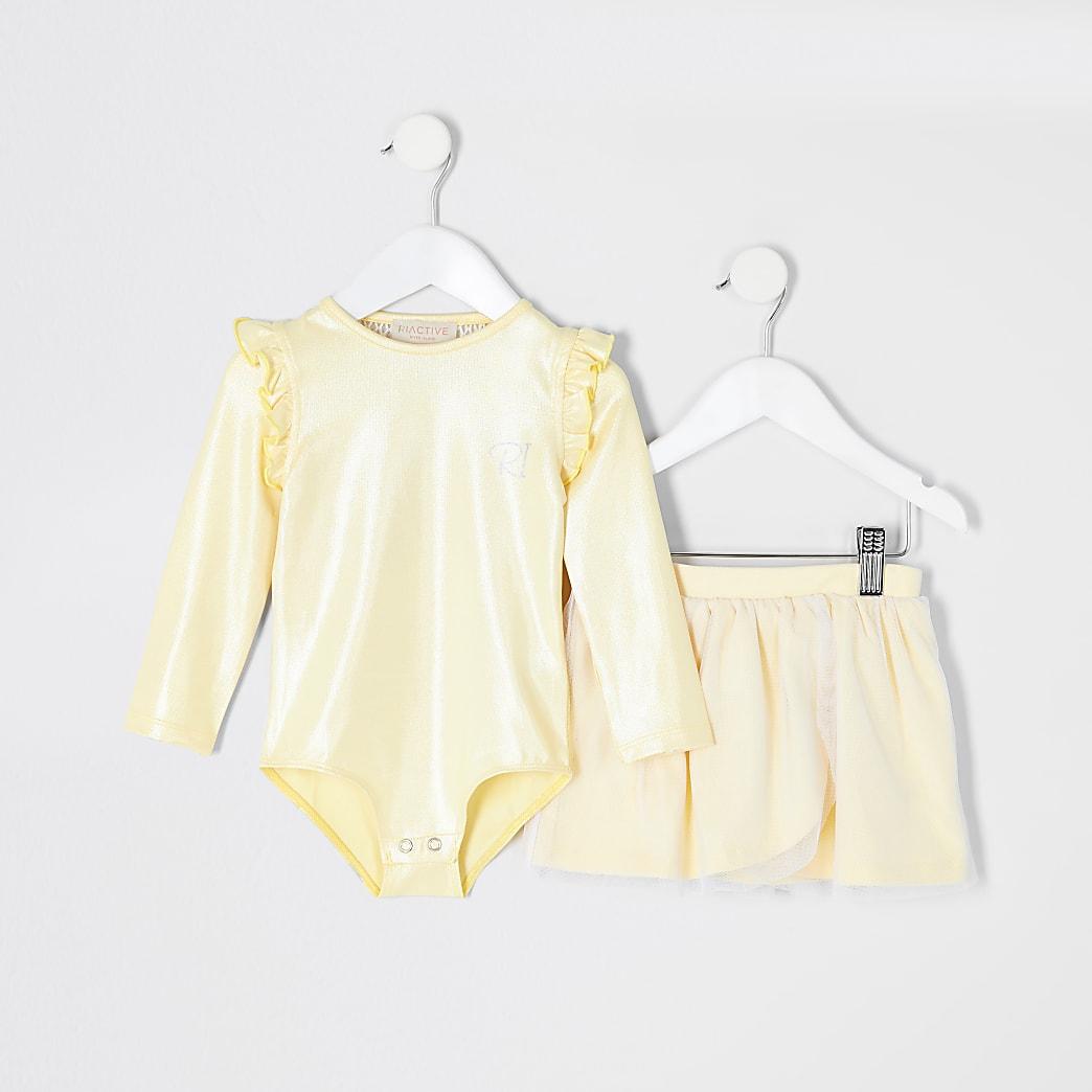 Mini - RI Active - Gele tutu outfit voor meisjes