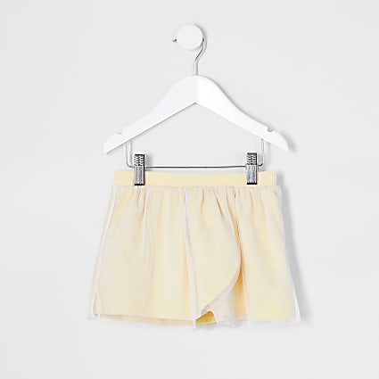 Mini girls RI active yellow tutu wrap skirt