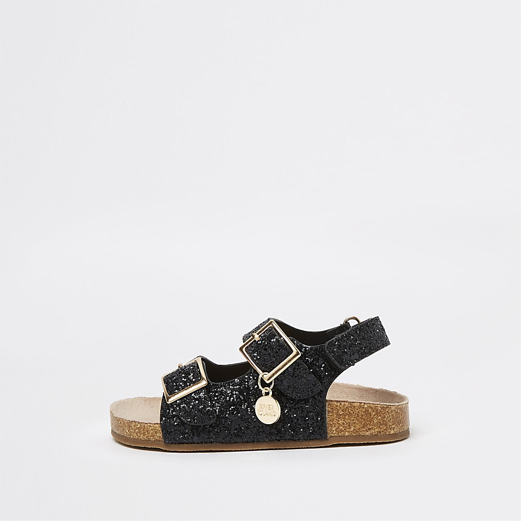 Mini girls RI glitter cork sandals