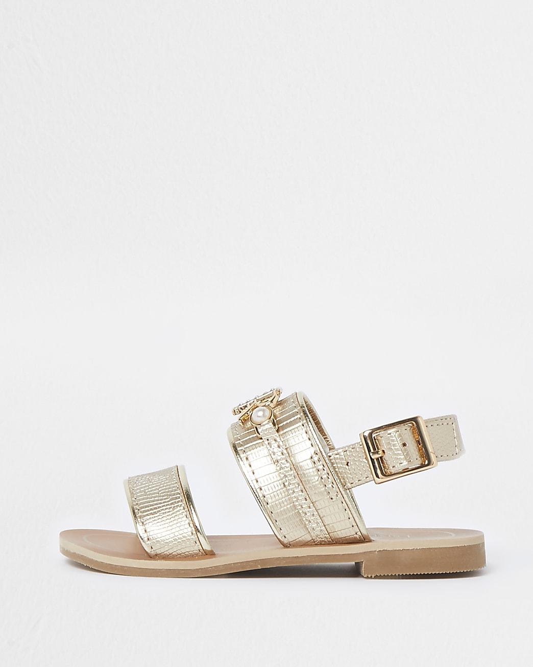 Mini girls RIR plate flat sandal
